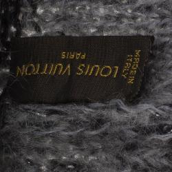 Louis Vuitton Grey Bonnet Monogram Glitter Beanie