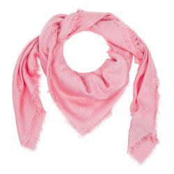 Louis Vuitton Pink Silk & Wool Monogram Shawl