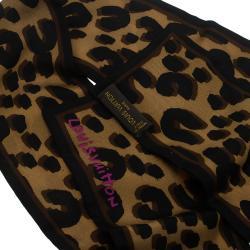 Louis Vuitton Brown Leopard Silk Bandeau