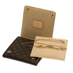 Louis Vuitton Signature Diamond Gold Necklace