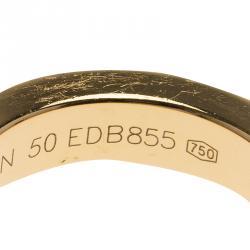 Louis Vuitton Clous Diamond Yellow Gold Ring Size 50