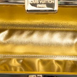 Louis Vuitton Metallic Grey Monogram Satin Limited Edition Minaudiere Motard Clutch