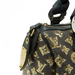 Louis Vuitton Limited Edition Gold Monogram Eclipse Speedy 28
