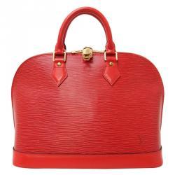 Louis Vuitton Red Epi Leather Alma PM