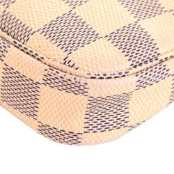 Louis Vuitton Damier Azur Canvas Mini Pochette Accessories Bag