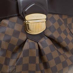 Louis Vuitton Damier Ebene Canvas Sistina PM Bag