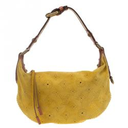 Louis Vuitton Yellow Monogram Suede Onatah Fleurs PM Bag