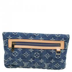 Louis Vuitton Blue Monogram Denim Pochette Clutch