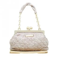 Louis Vuitton Ecru Monogram Leather Limited Edition Olympe Nimbus Cirrus Bag