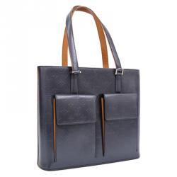 Louis Vuitton Blue Monogram Mat Willwood Bag
