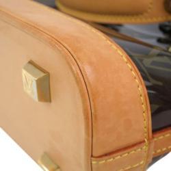Louis Vuitton Brown Vinyl Cabas Ambre PM Tote