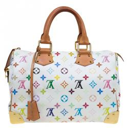 Louis Vuitton White Multicolor Monogram Canvas Speedy 30 Bag