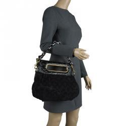 41efdc2a17ac Louis Vuitton Black Monogram Suede Limited Edition Motard Afterdark Bag