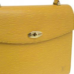 Louis Vuitton Yellow Epi Leather Malesherbes Bag