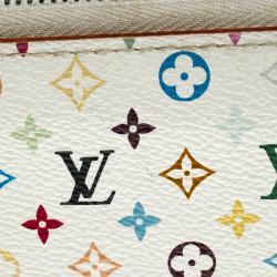 Louis Vuitton White Multicolore Monogram Canvas Zippy Wallet