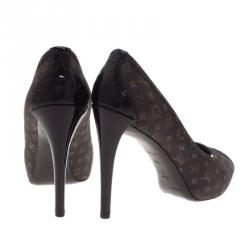 Louis Vuitton Monogram Idylle Canvas Romance Peep Toe Pumps Size 39