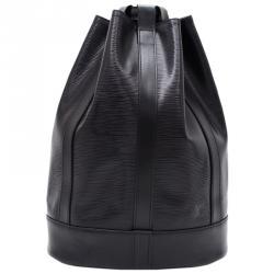 حقيبة ظهر لوي فيتون راندوني جلد إيبي أسود نوار