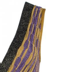 M Missoni Metallic Wave Knit Maxi Dress S