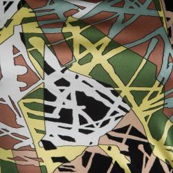 M Missoni Multicolor Printed Knit Scoop Back Detail Top M