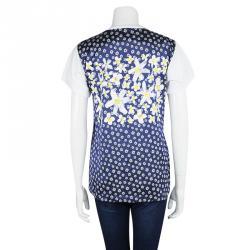 Maison Martin Margiela White Floral Back Detail Short Sleeve T-Shirt S