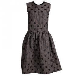 Marc by Marc Jacobs Beige Polka Dot Sleeveless Full Skirt Dress M