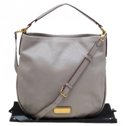 Marc by Marc Jacobs Grey Leather New Q Hillier Hobo