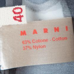 Marni Monochrome Floral Print Skirt S