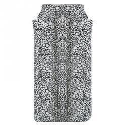 Marni Monochrome Printed Silk Skirt L