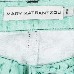 Mary Katrantzou Multicolor Floral Printed Slim Fit Jeans S