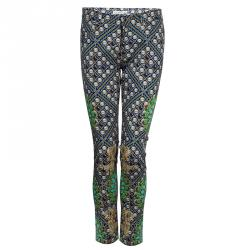 Mary Katranzou Pearl Printed Denim Pants S
