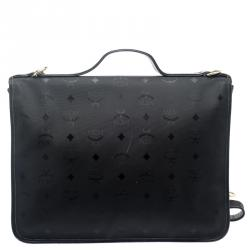 MCM Black Nylon Business Briefcase