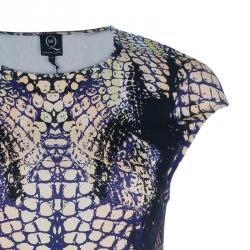 McQ By Alexander McQueen Crocodile Cap Sleeve Dress M
