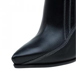 McQ by Alexander McQueen Black Leather Lex Chelsea Ankle Boots Size 40