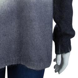 McQ by Alexander McQueen Grey Ombre Turtleneck Sweater S