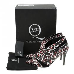 McQ by Alexander McQueen Leopard Print Ankle Boots Size 39