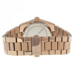 Michael Kors Black Rose Gold-Stainless Steel Channing MK5937 Women's Wristwatch 38MM