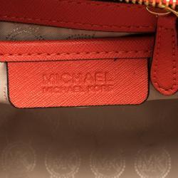 Michael Kors Red Saffiano Leather Medium Selma Tote