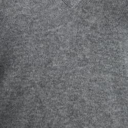 Michael Michael Kors Grey Cashmere V Neck Sweater S
