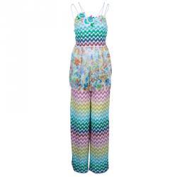 Missoni Mare Multicolor Knit Floral Top and Pants Set S/M