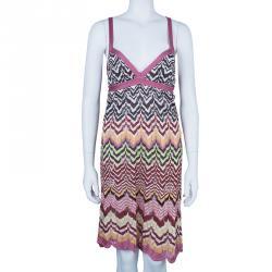 Missoni Multicolor Crochet Knit Dress M