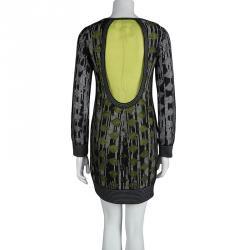 Missoni Monochrome Knit Contrast Lining Detail Backless Dress S