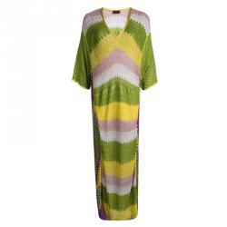 c0299406209f Sold. Missoni Mare Multicolor Patterned Perforated Knit Short Sleeve Maxi  Dress L