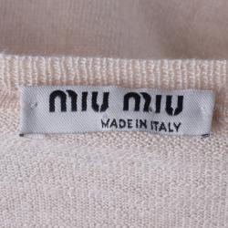 Miu Miu Beige Knit Top S