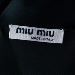 Miu Miu Black Satin Top M
