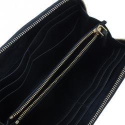 Miu Miu Black Leather Matelasse Wallet
