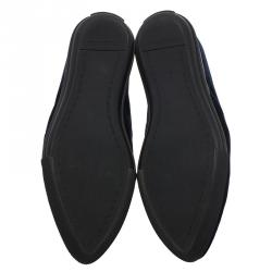 Miu Miu Blue Velvet Jeweled Skate Sneakers Size 36.5