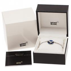 Montblanc Blue Pendant Silver Bracelet