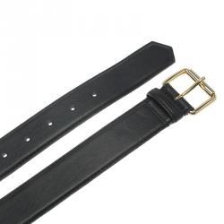 Moschino Black Leather Logo Chain Belt 105 CM