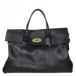 Mulberry Black Leather Piccadilly Travel Bag