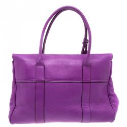 Mulberry Purple Leather Bayswater Satchel